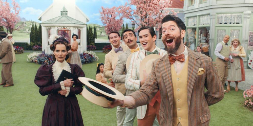 Kristin Chenoweth in Apple TV's musical comedy series Schmigadoon!