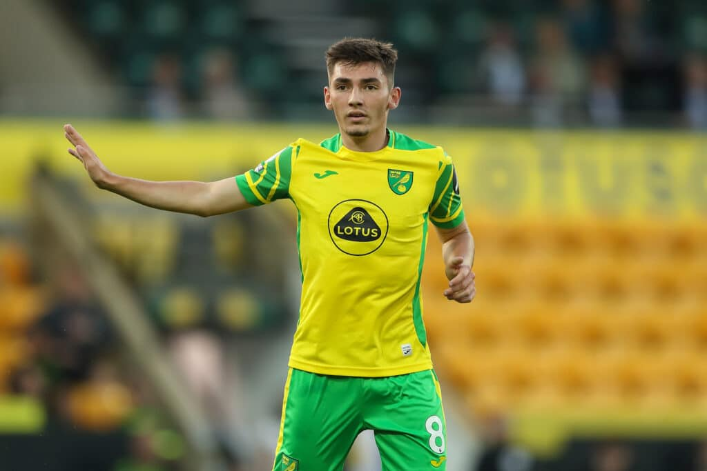 Billy Gilmour of Norwich City during the pre season friendly between Norwich City and Gillingham at Carrow Road