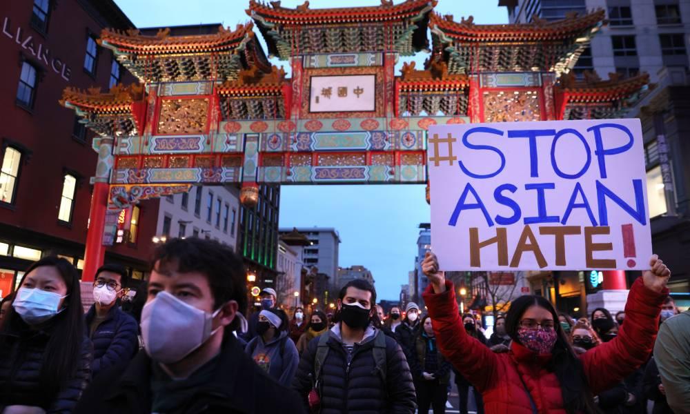 Stop Asian Hate Atlanta shooting vigil Washington DC
